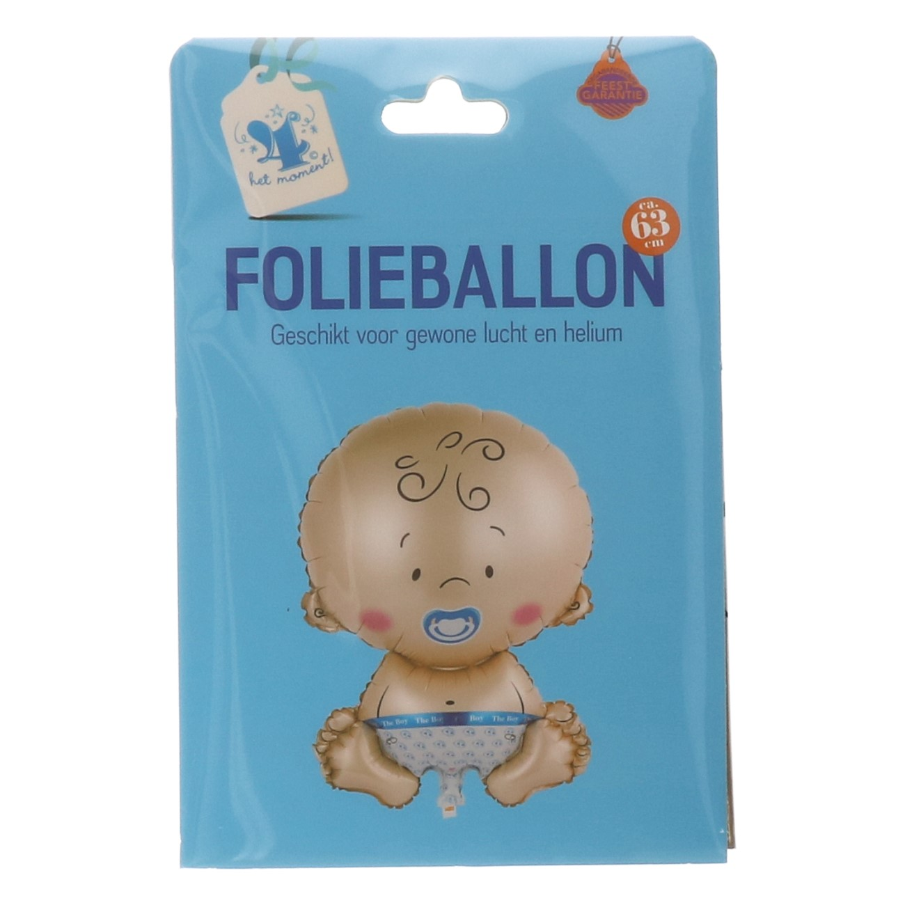 Folieballon baby blauw