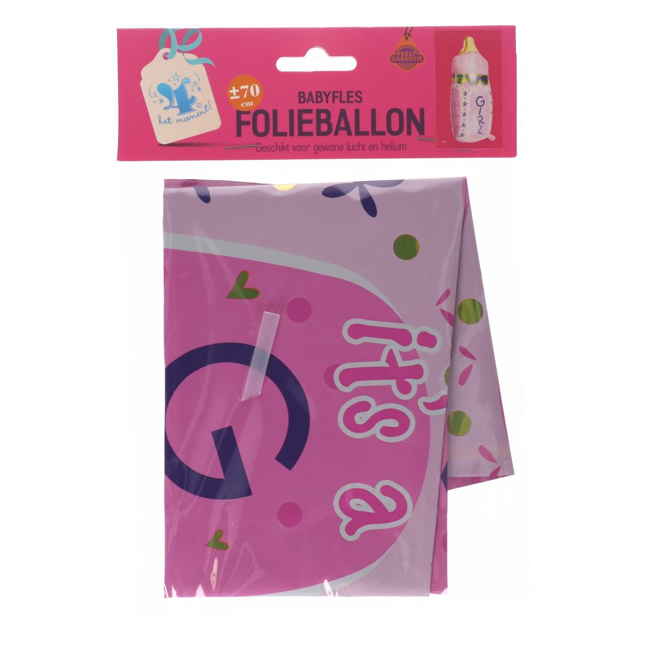 """Folieballon """"babyfles"""" girl"""