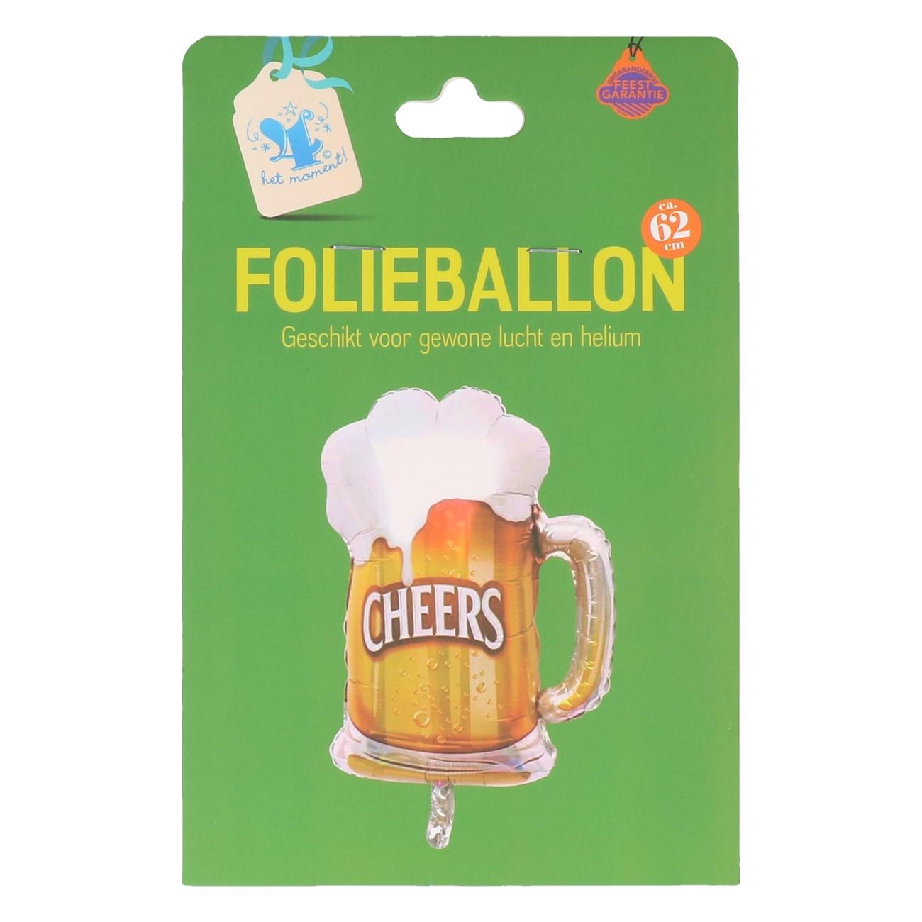 Folieballon bierglas