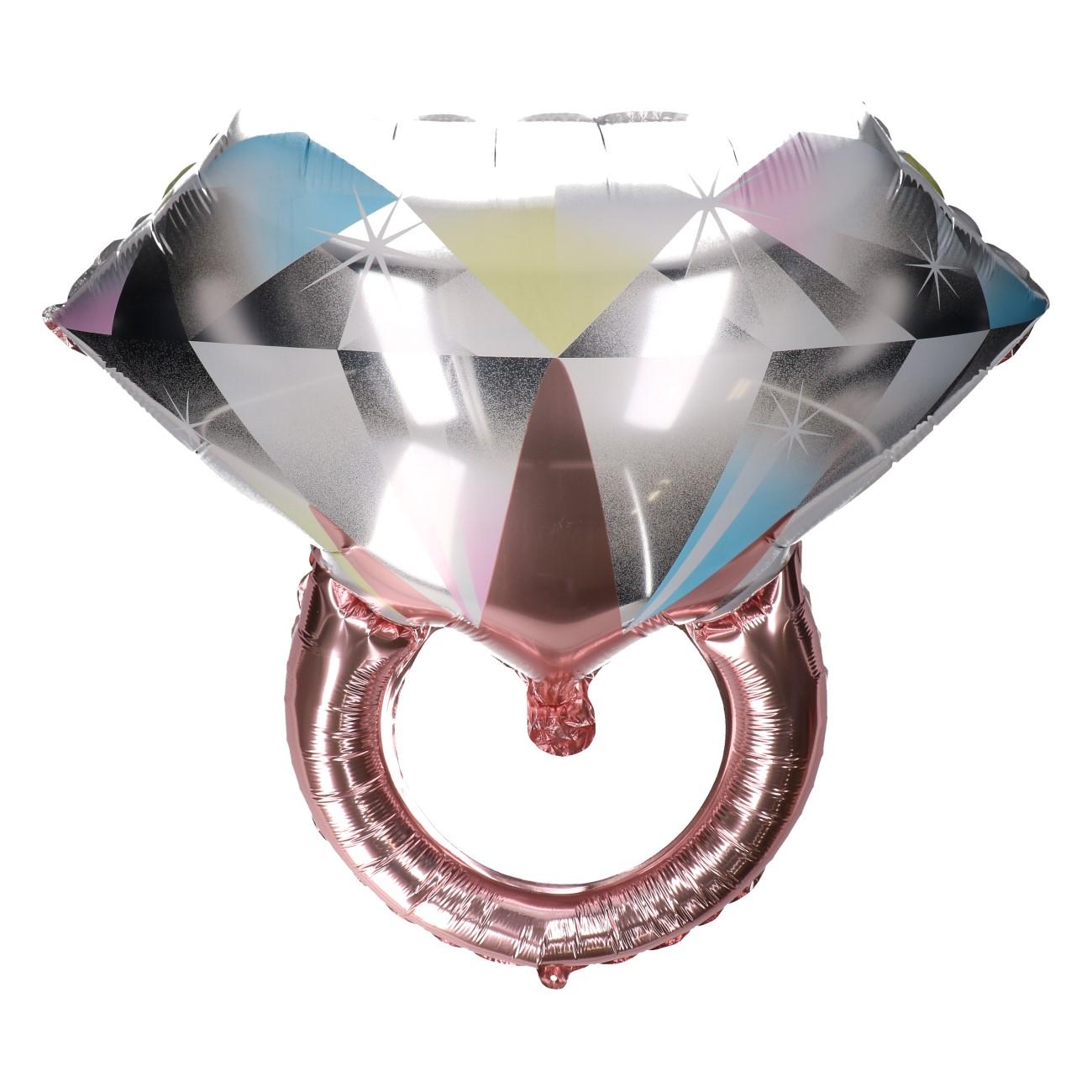 Folieballon diamanten ring