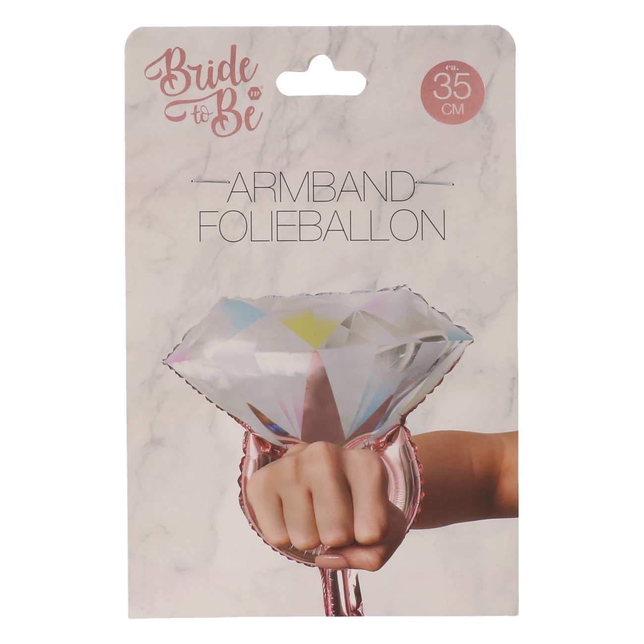 Folieballon diamanten ring ARMBAND