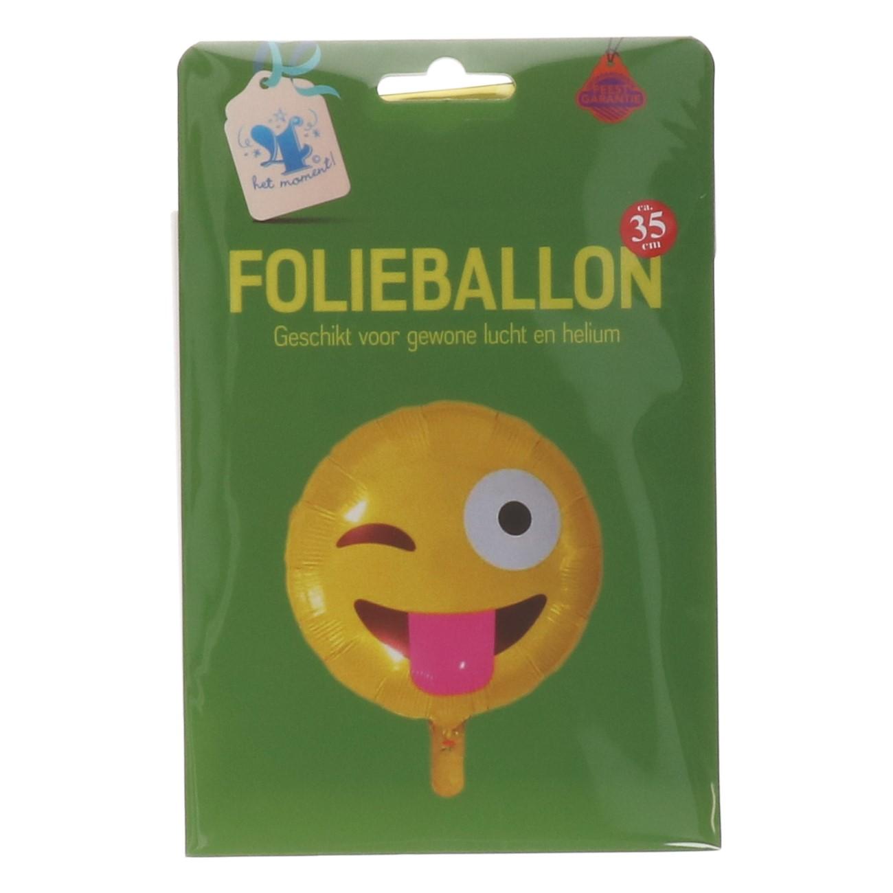 Folieballon emoticon knipoog