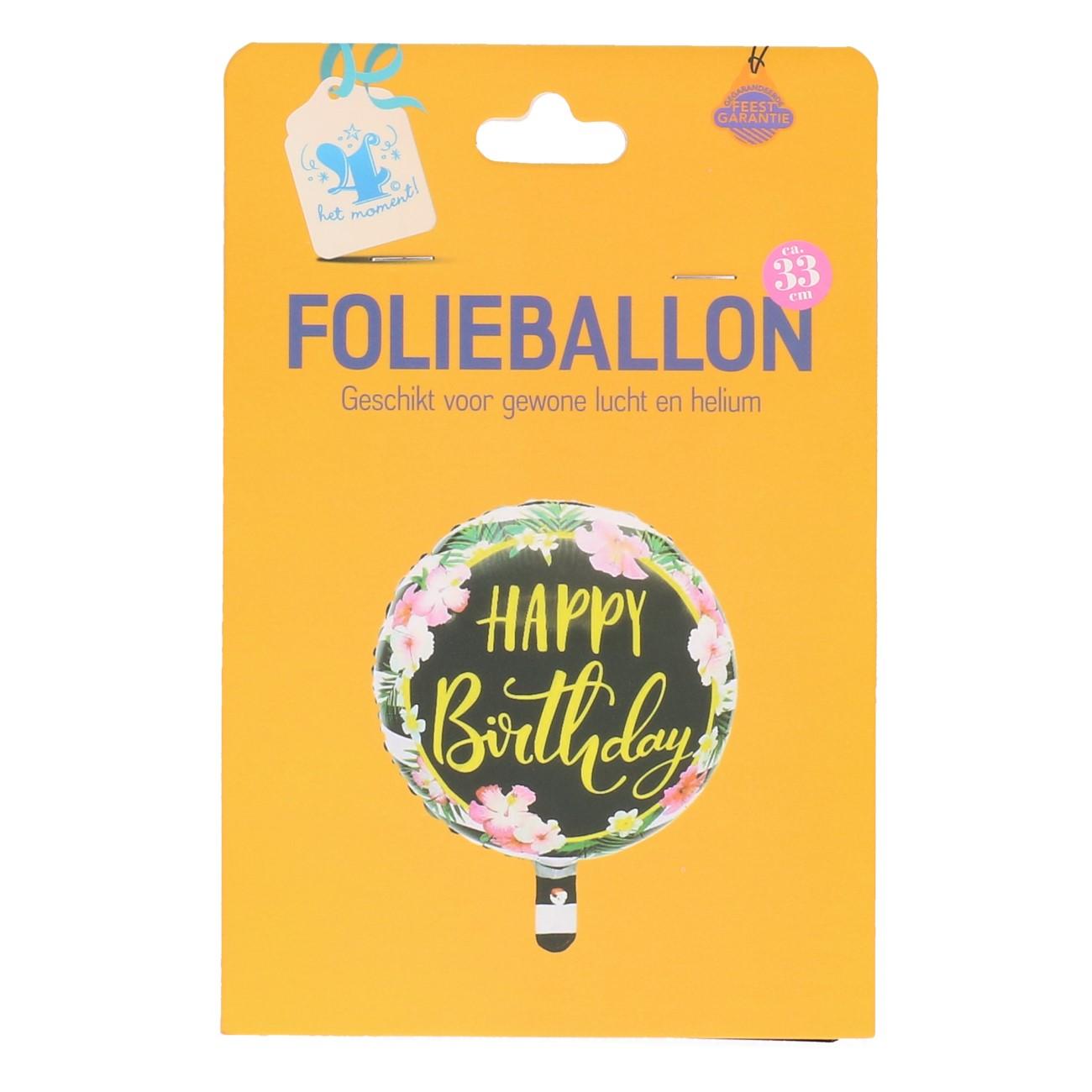Folieballon happy birthday tropical