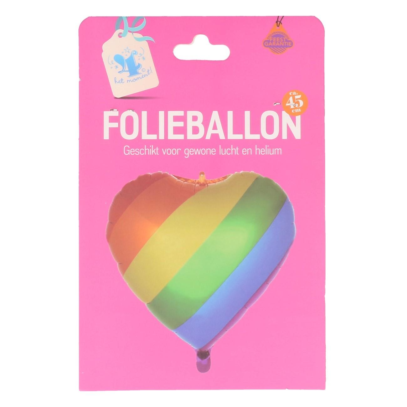 Folieballon regenboog hart #746