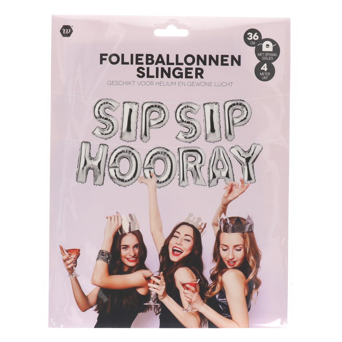 Folieballon slinger sip sip hooray