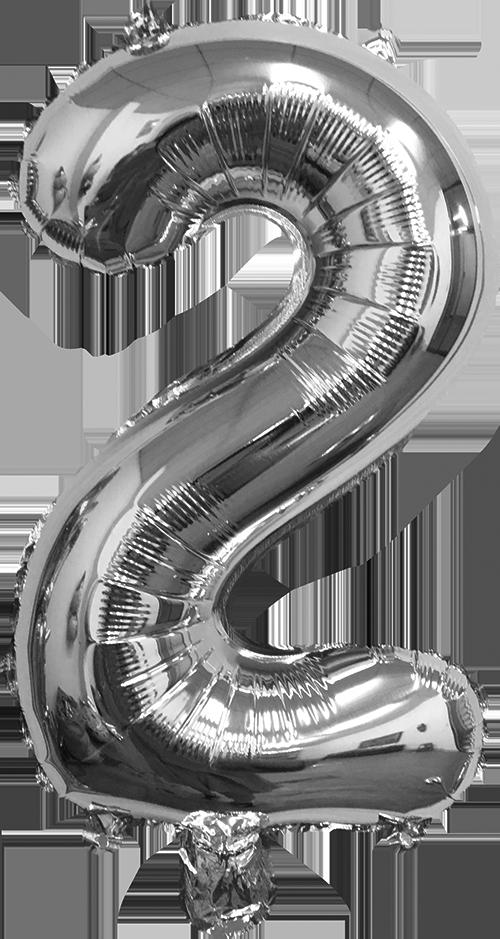 Folieballon zilver xl 2