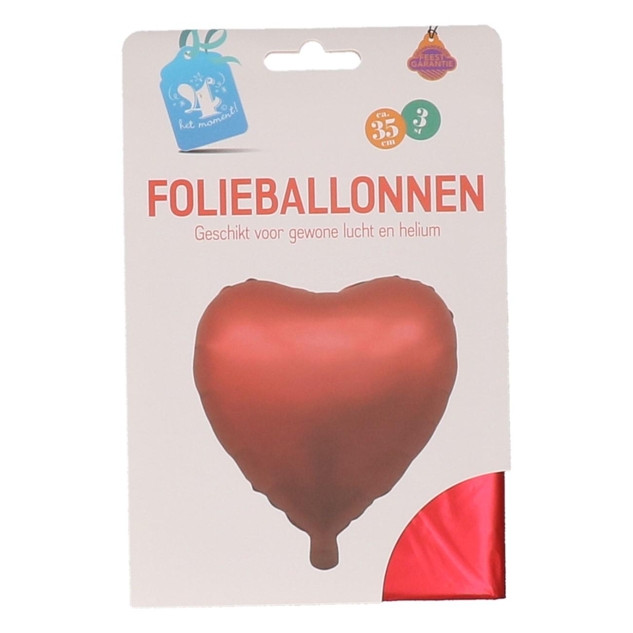 Folieballonnen hart rood