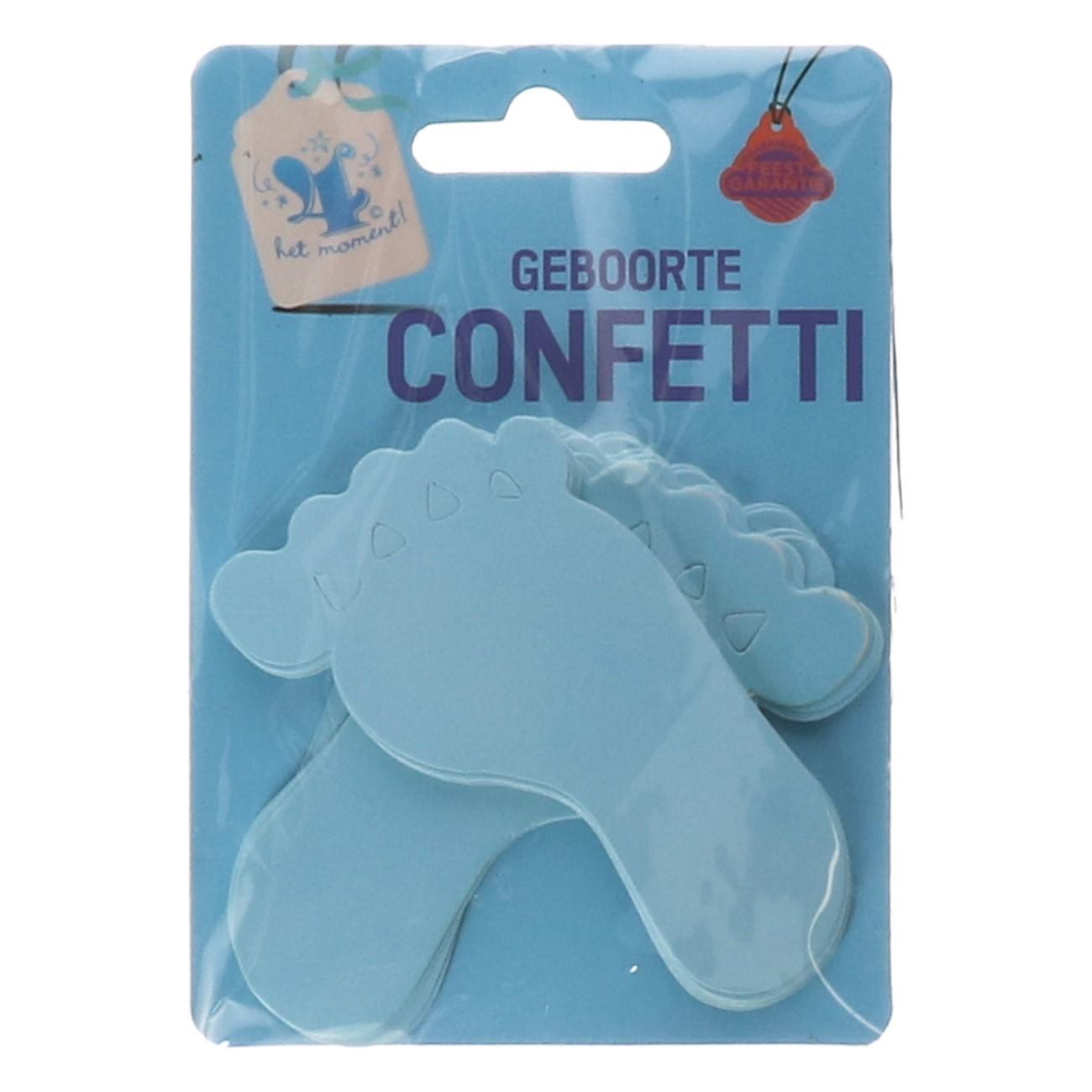 Geboorte confetti voetjes blauw