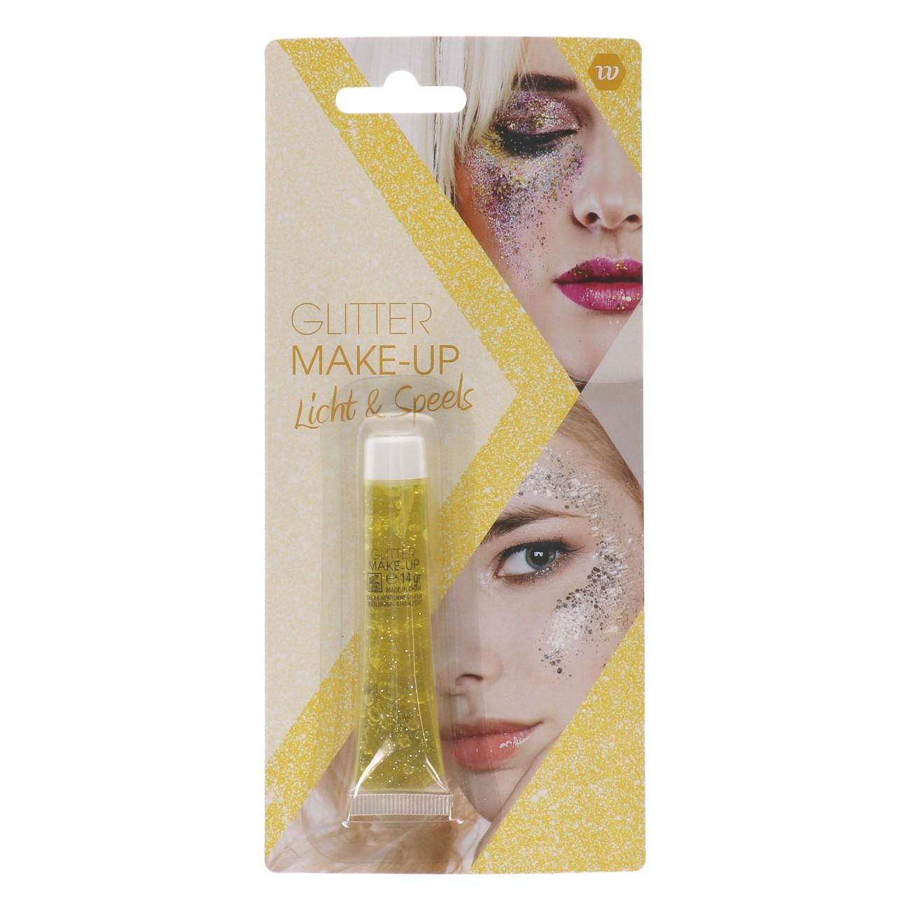 Glitter Make-up Licht & Speels (Geel)