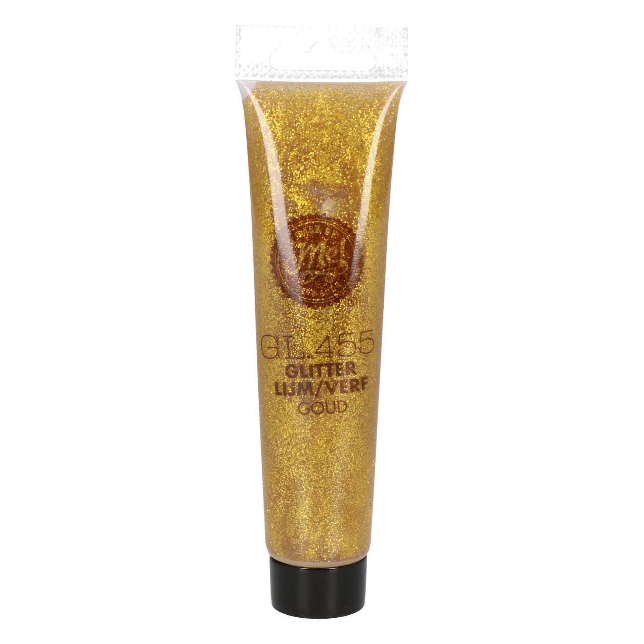 Glitterlijm/verf goud GL455 75ml
