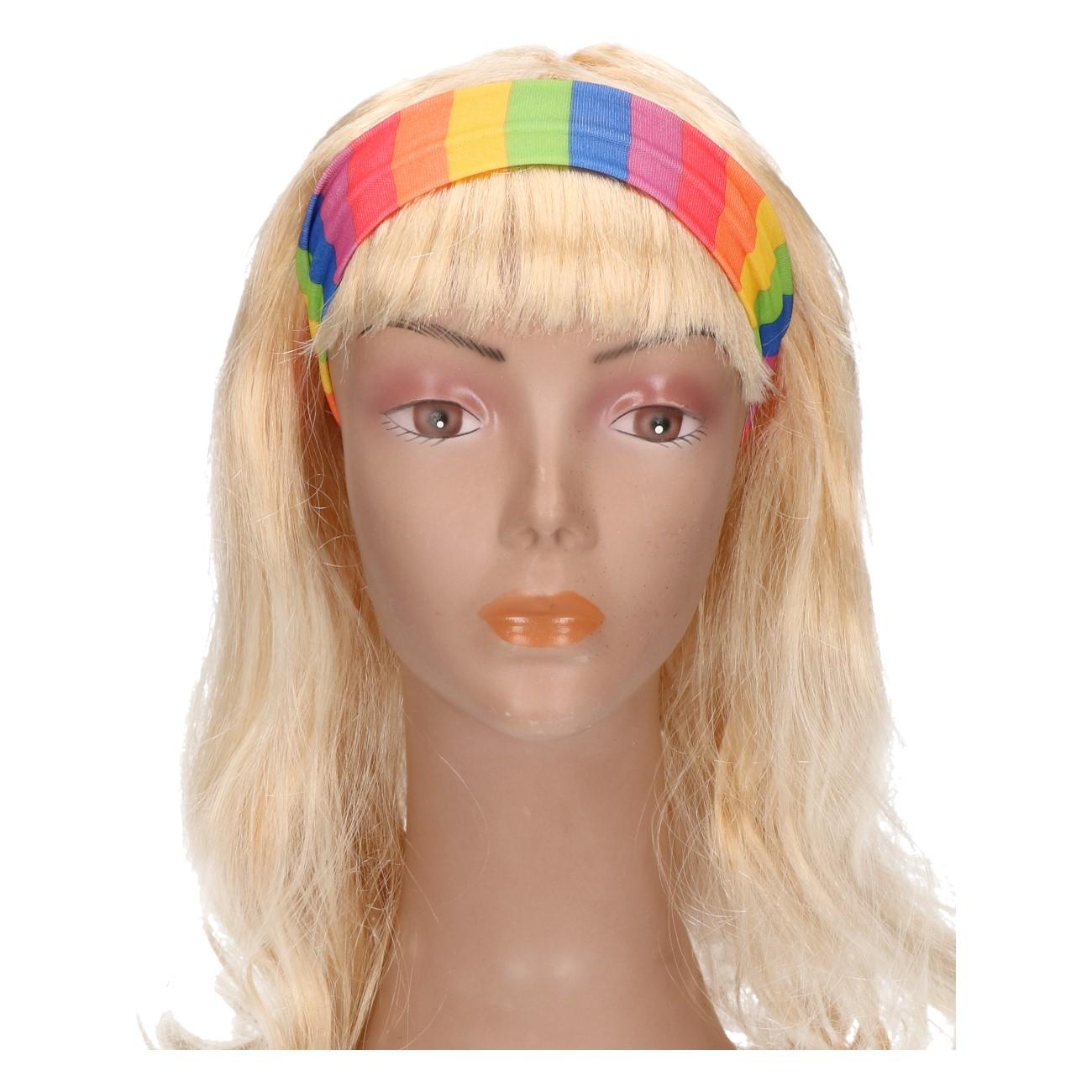 Haarband smal regenboog