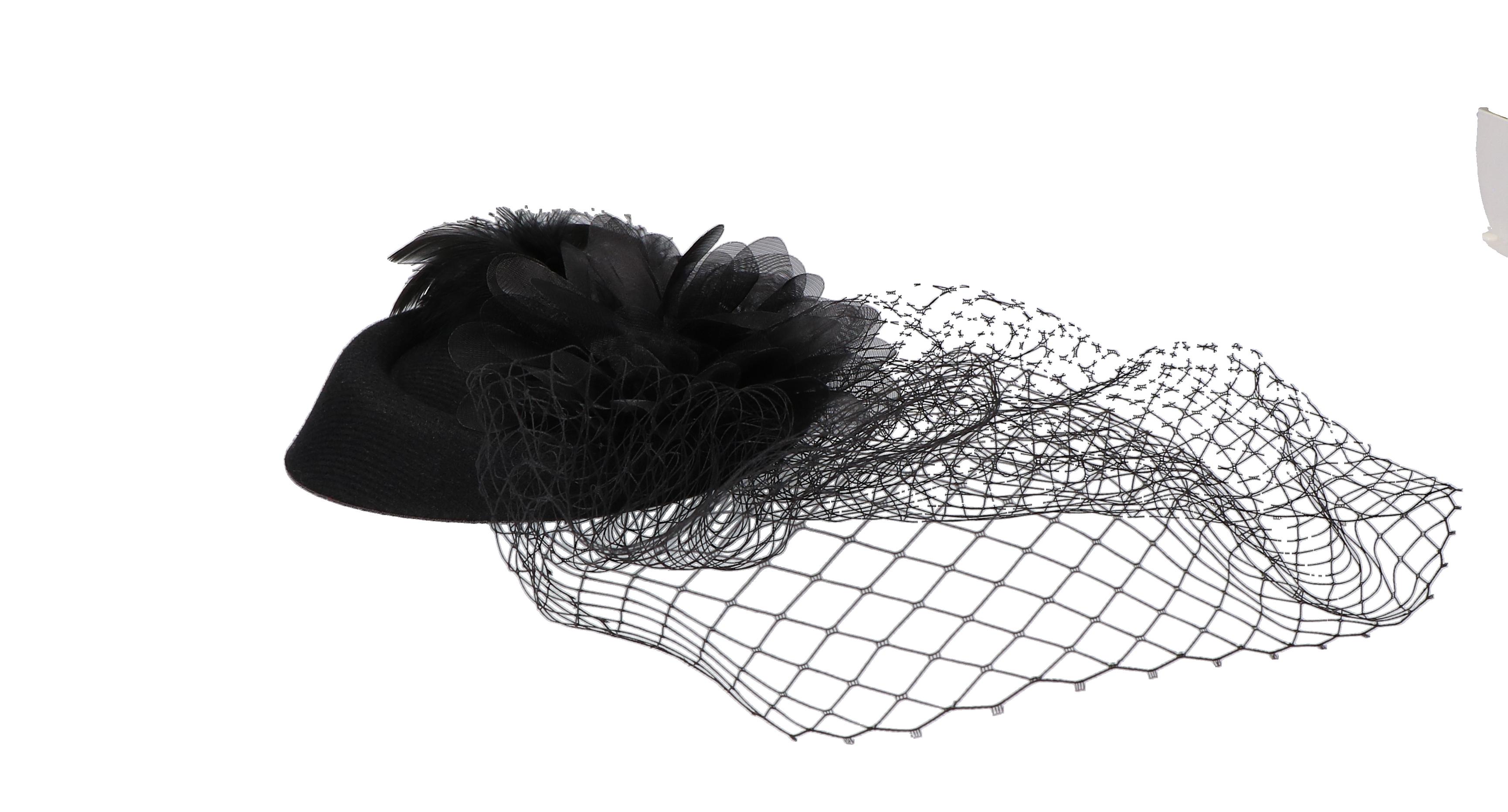 Haarclip hoedje zwart