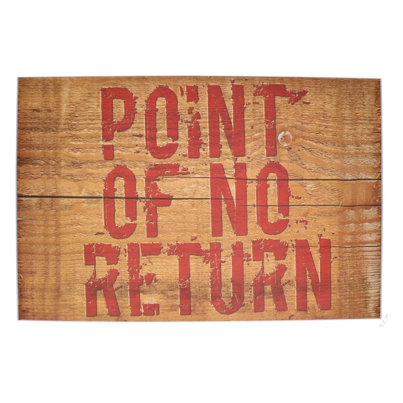 "Halloween wanddeco bordje ""point of no return"""