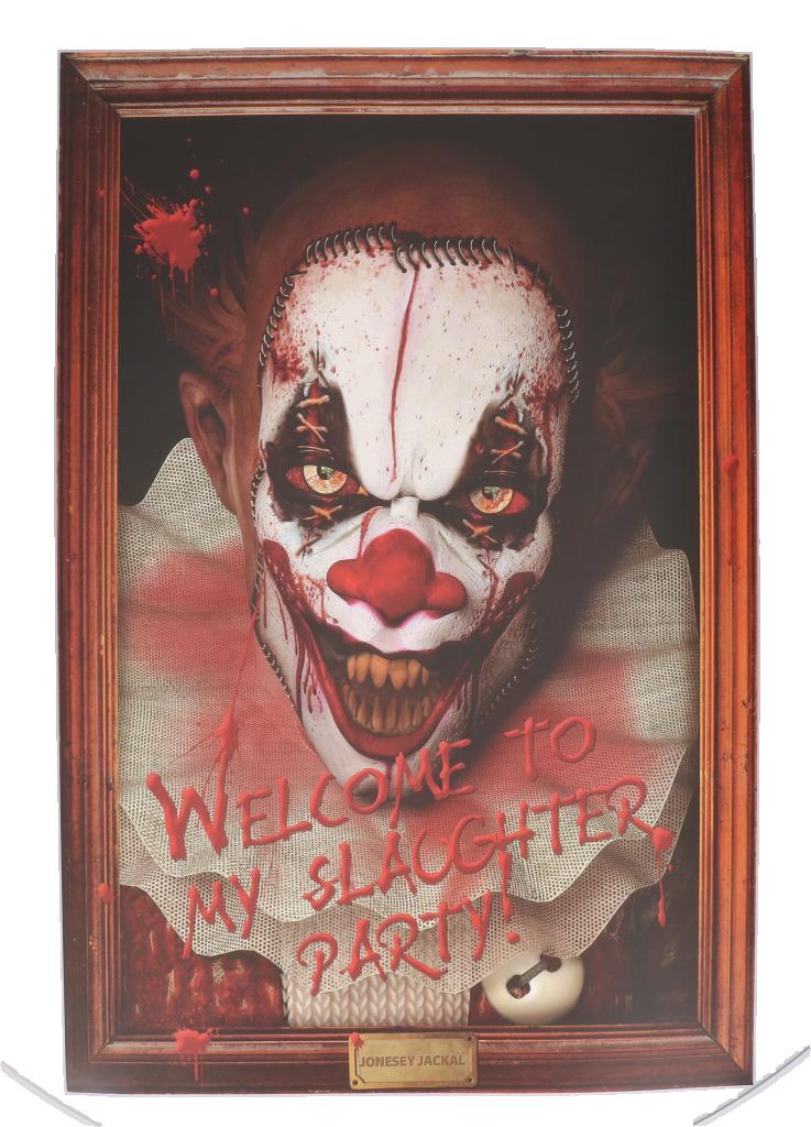 "Halloween wanddeco clown ""welcome to my"""