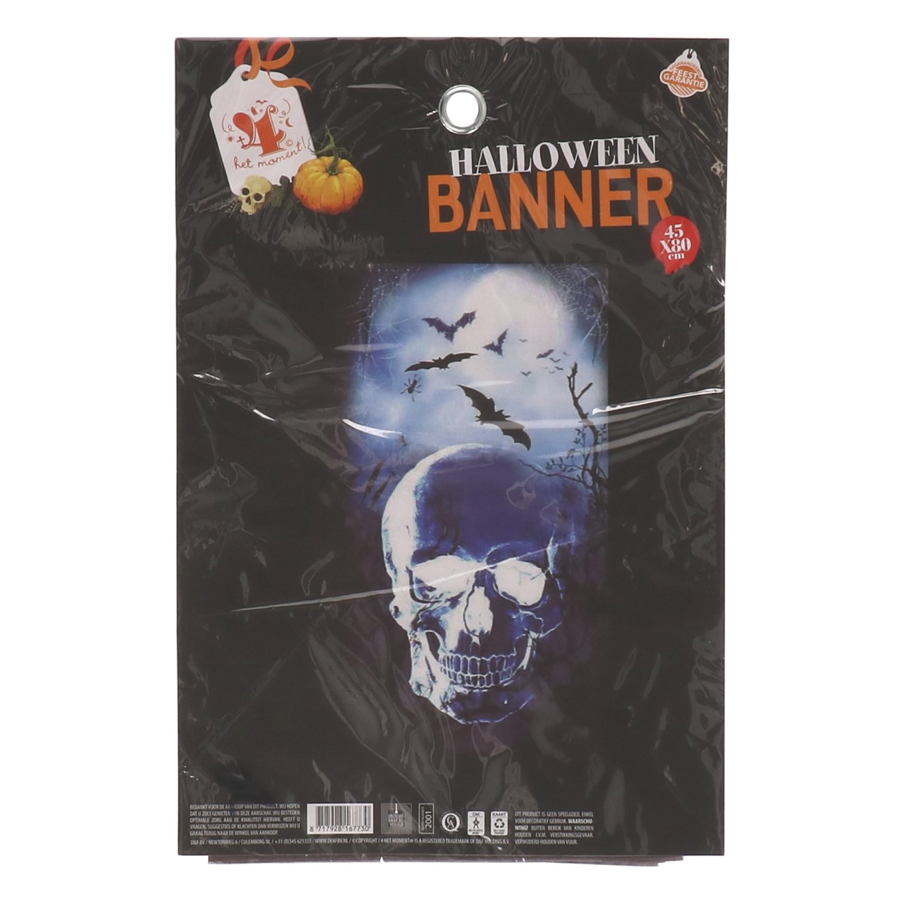 Halloween banner skull