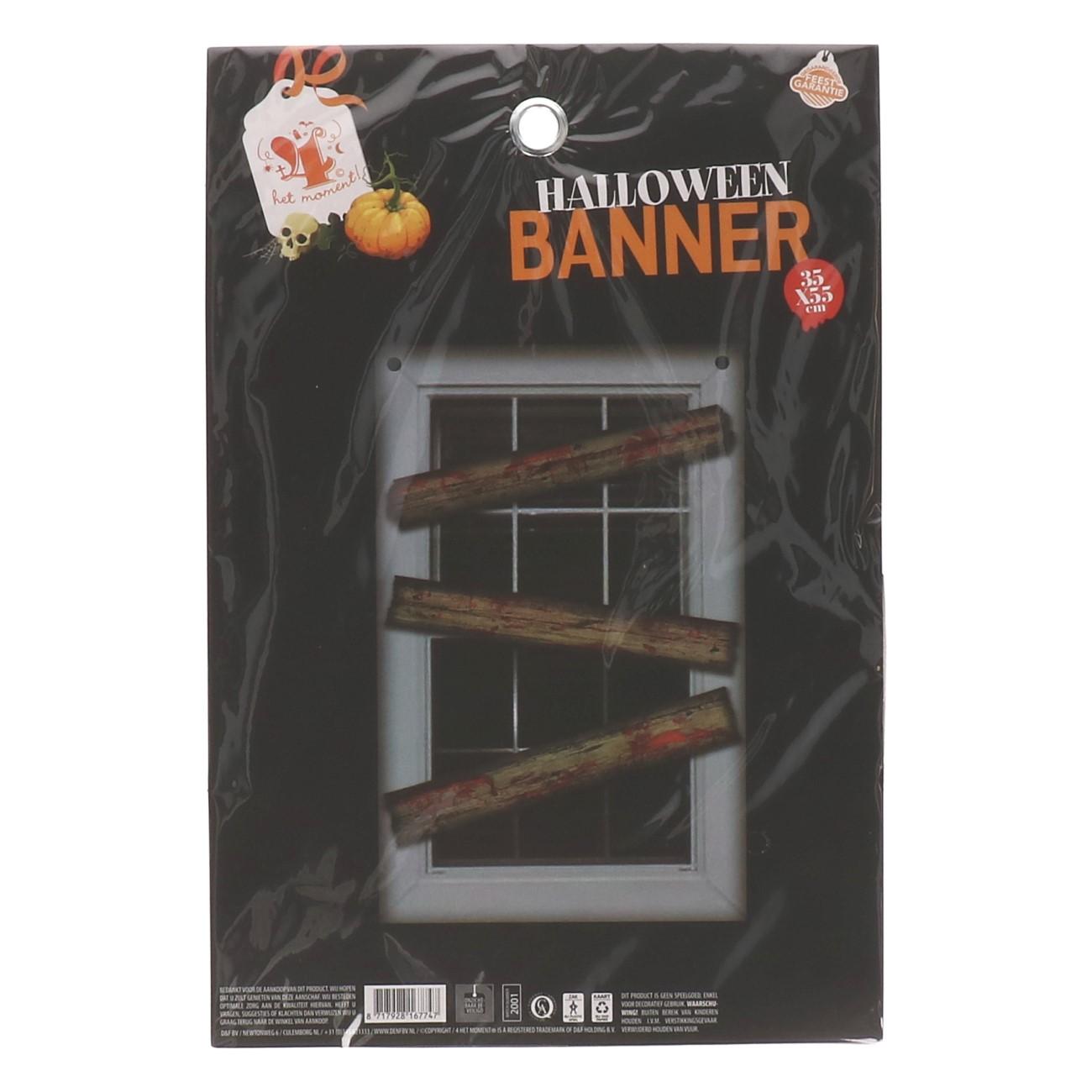 Halloween banner window