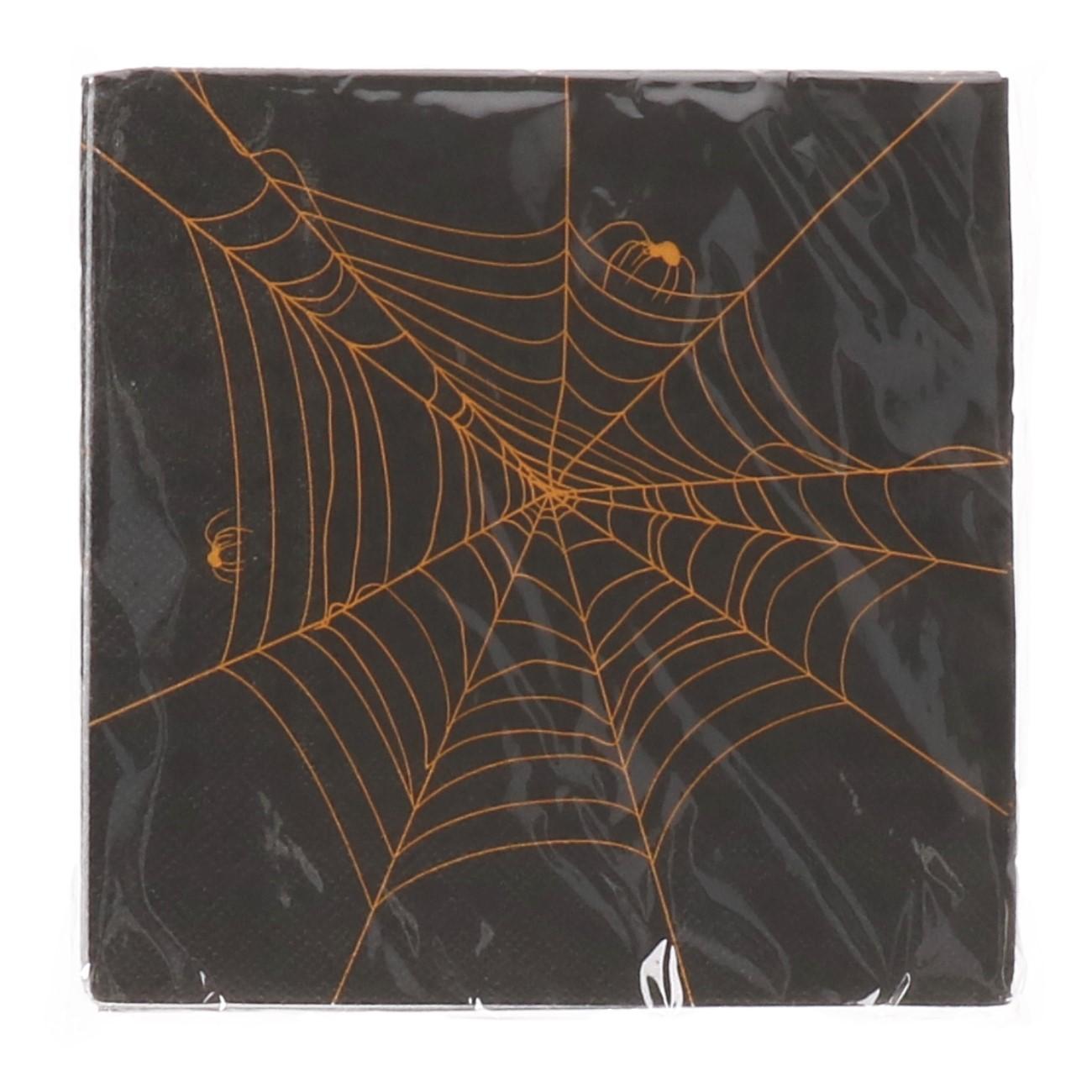 Halloween servetten spinnenweb