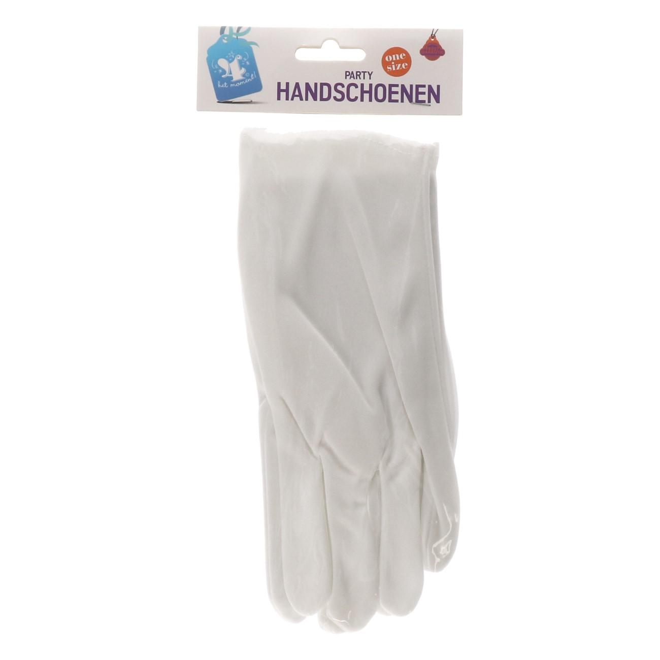 Handschoenen Party wit