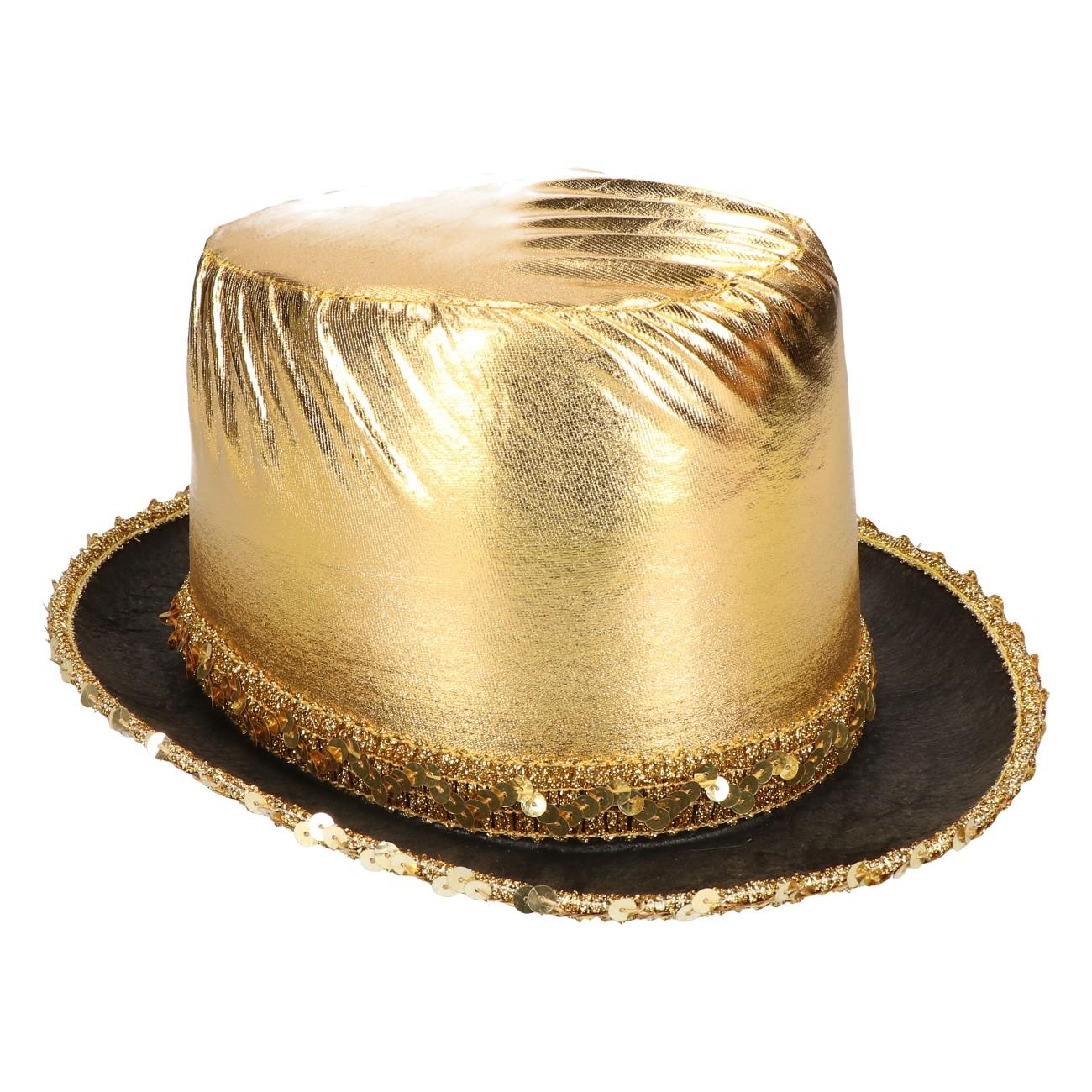Hoed goud metallic
