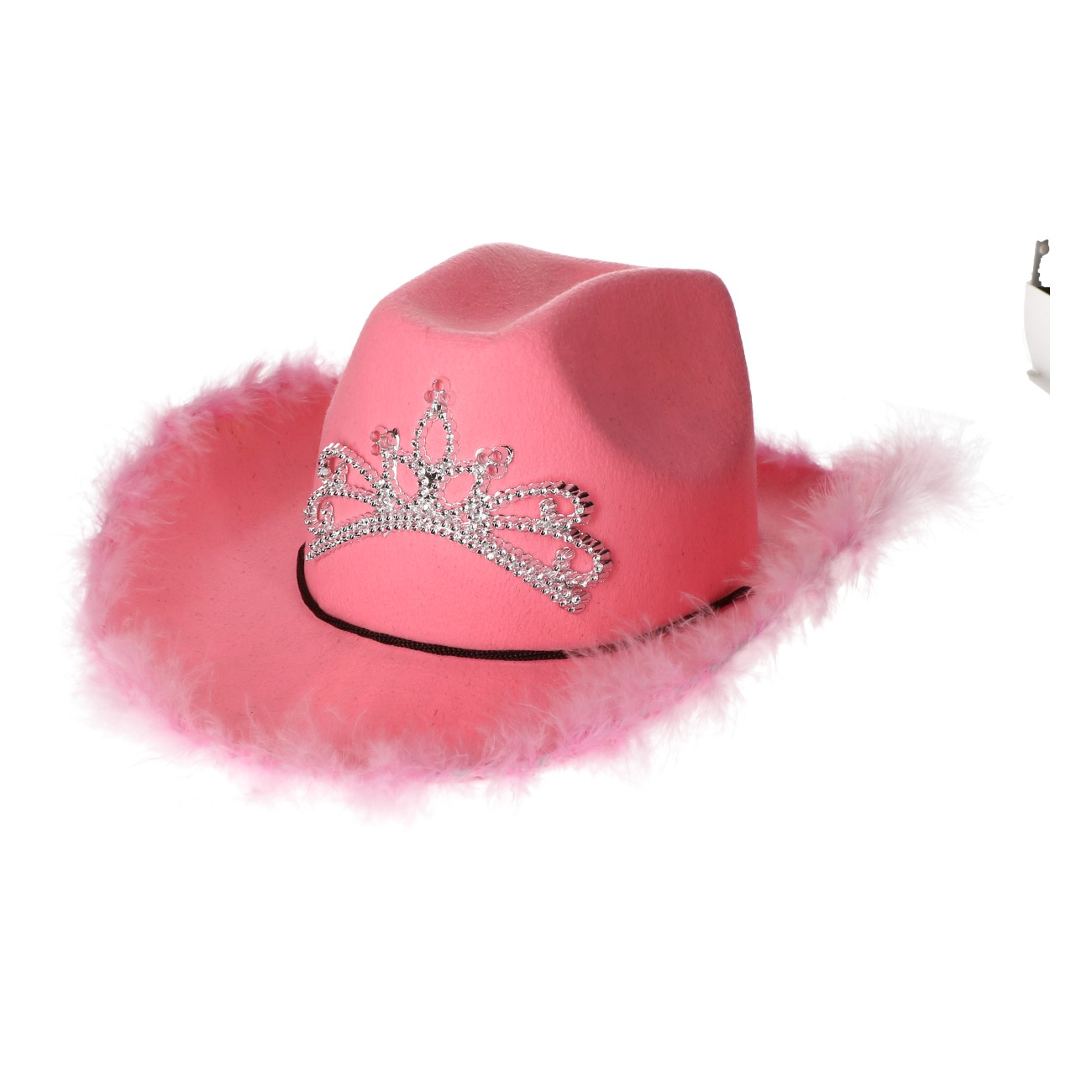Hoed roze kroontje#968
