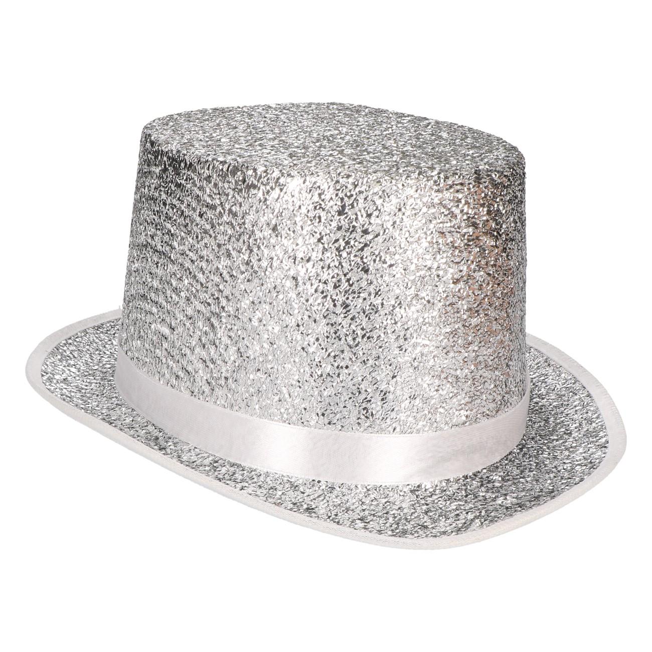 Hoed zilver glitter