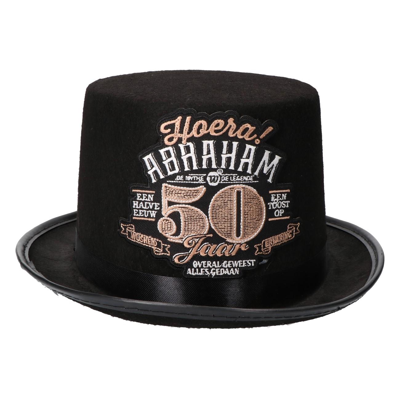 Hoge hoed Abraham 50 jaar