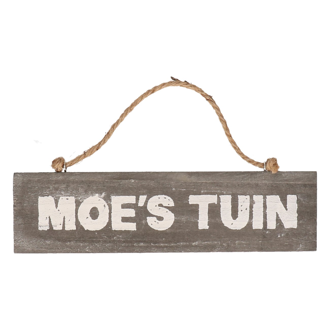 Houten bord Moe's tuin