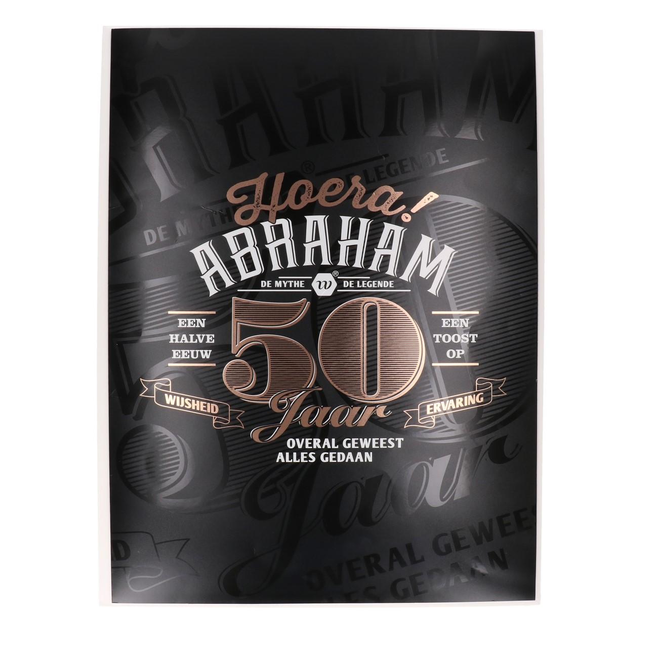 Kaart xxl Abraham 50 jaar