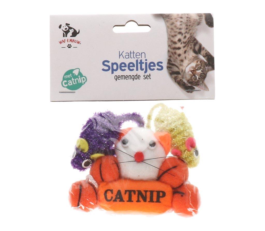 Kattenspeeltjes 3 assortie