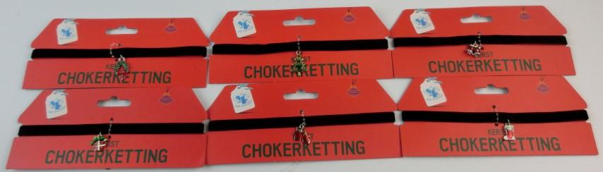 Kerst choker ketting