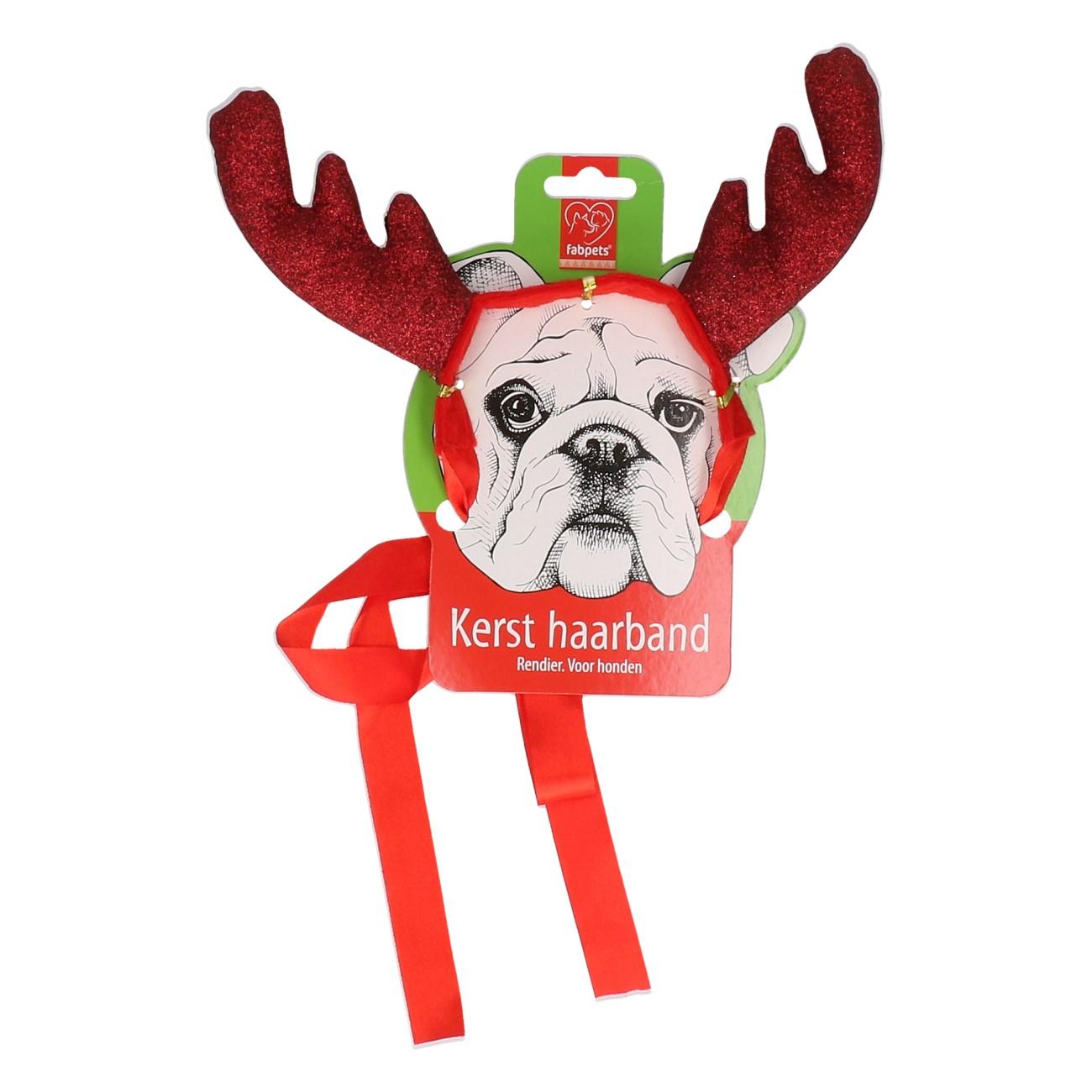 Kerst haarband voor honden