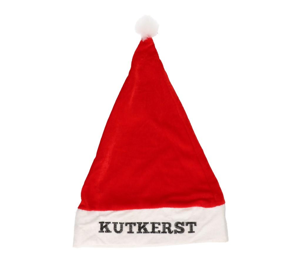 """Kerstmuts rood """"kutkerst"""""""