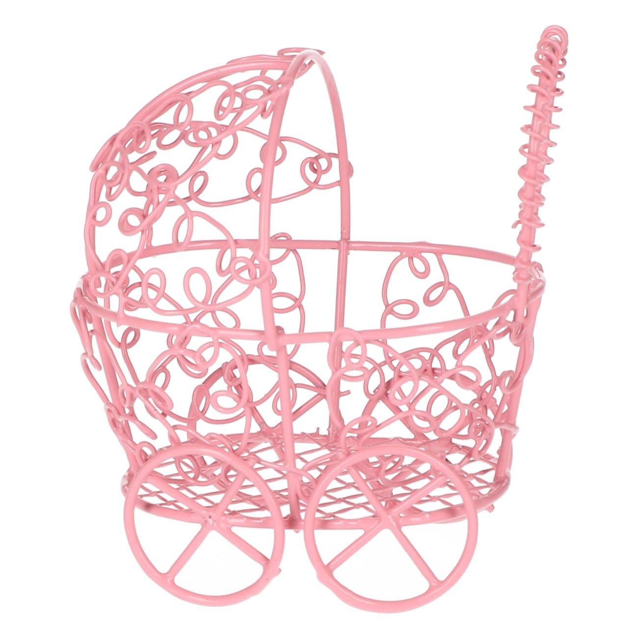 Kinderwagen decoratie roze