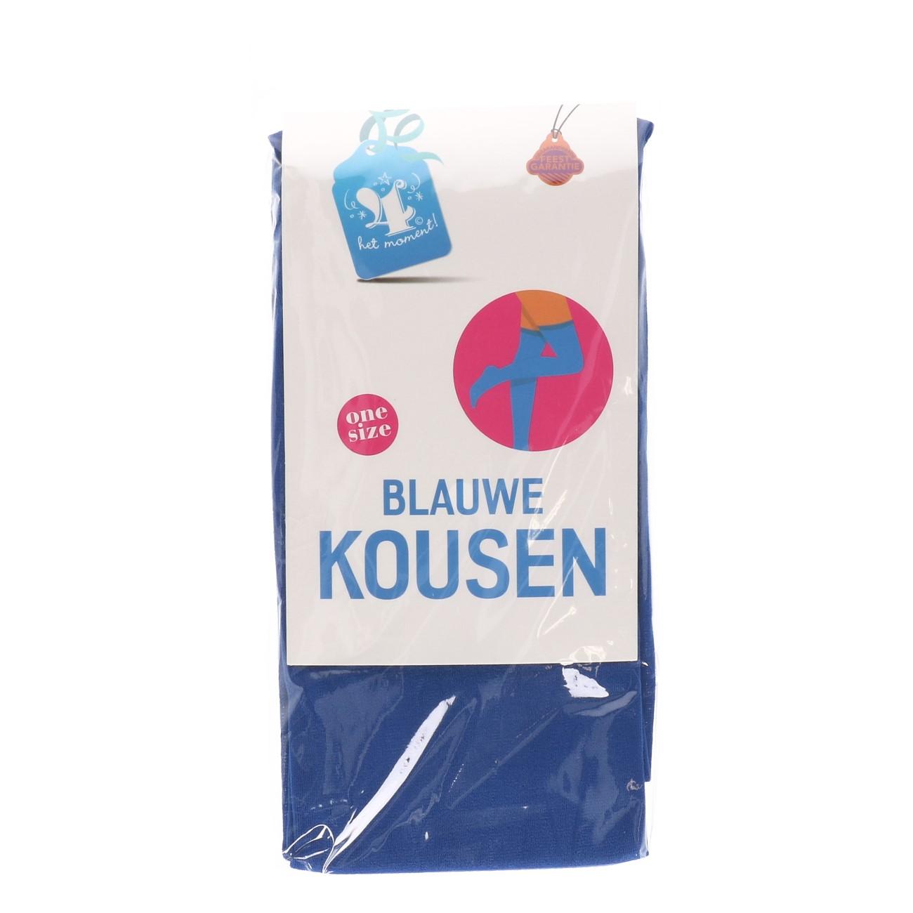 Kousen blauwe one size