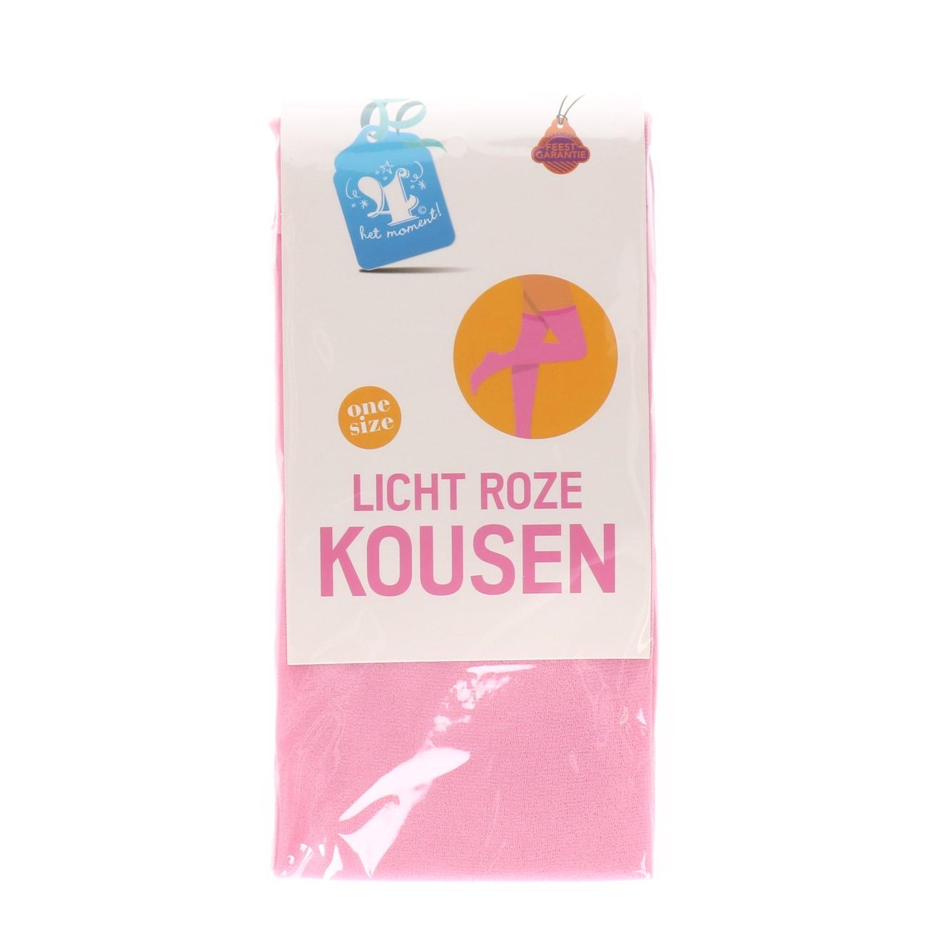 Kousen licht roze one size