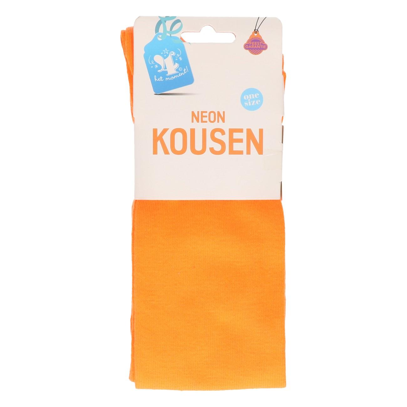 Kousen neon oranje one size