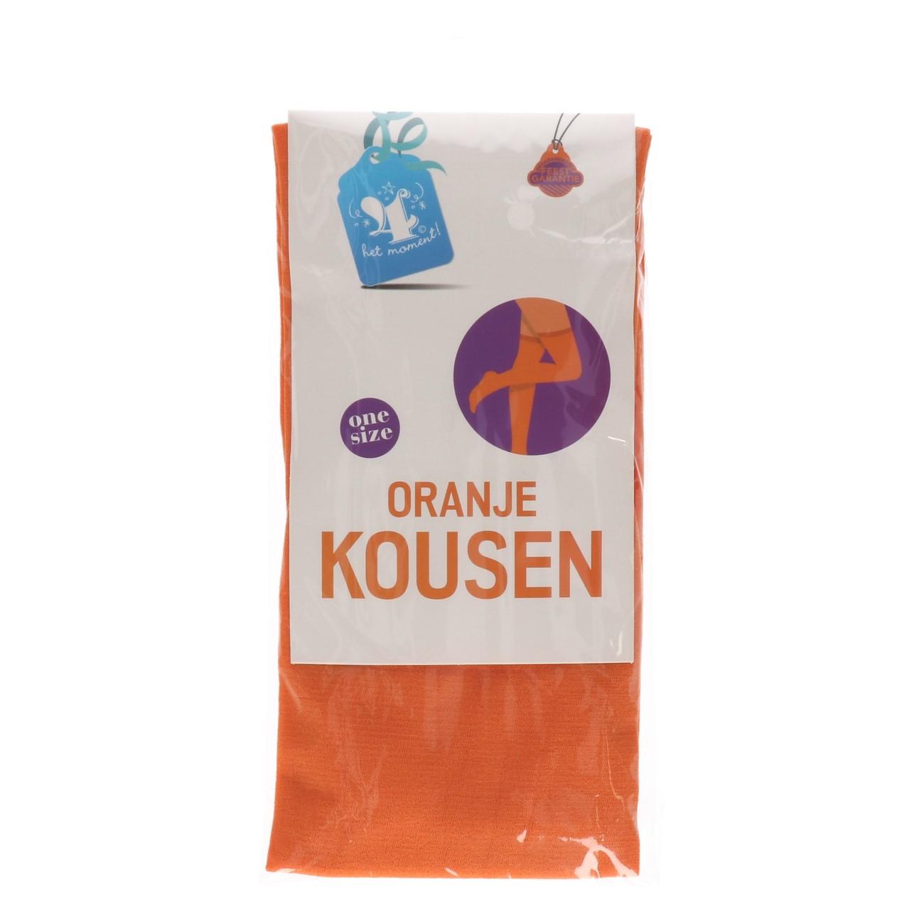 Kousen oranje one size