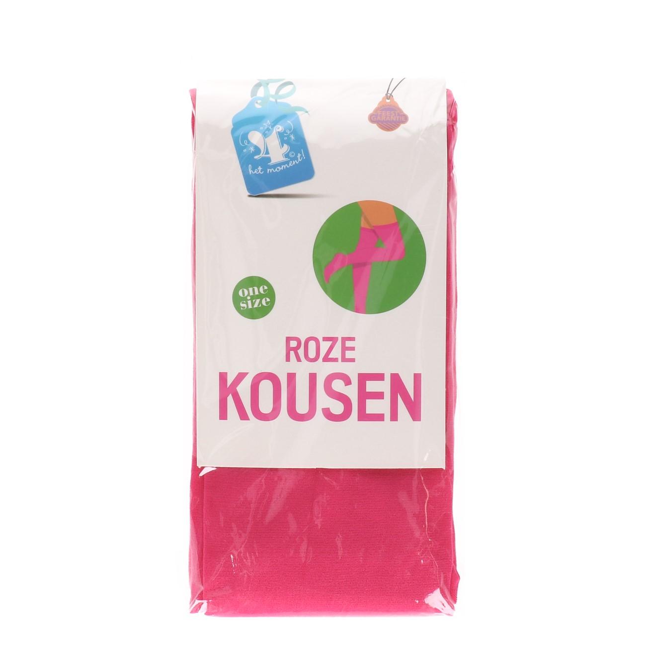 Kousen roze one size