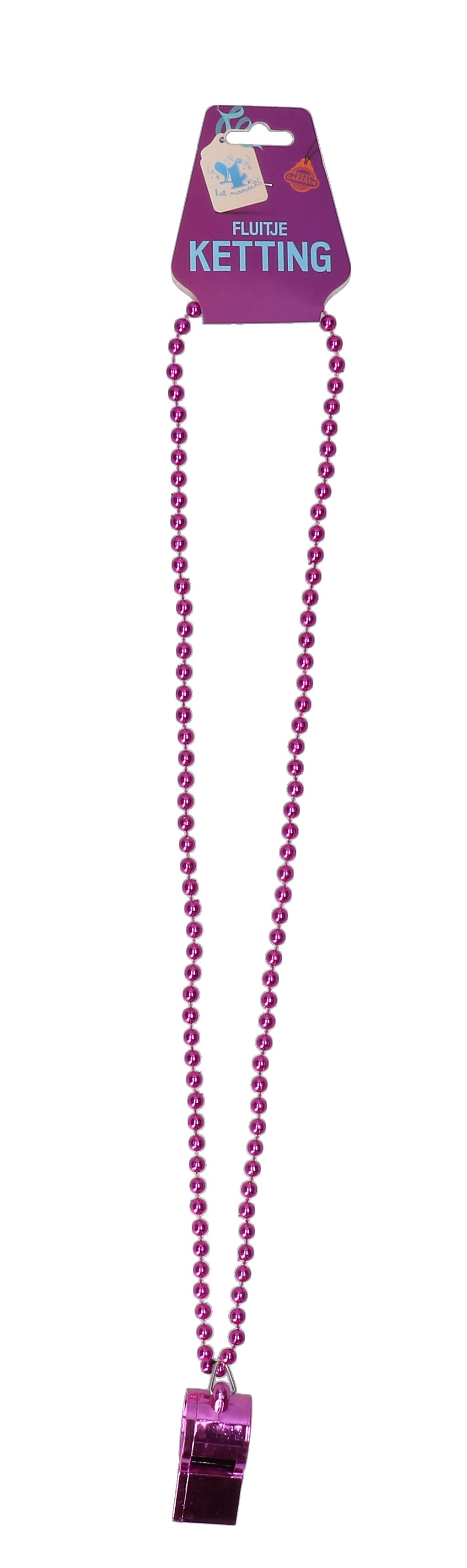 Kralenketting met paars fluitje
