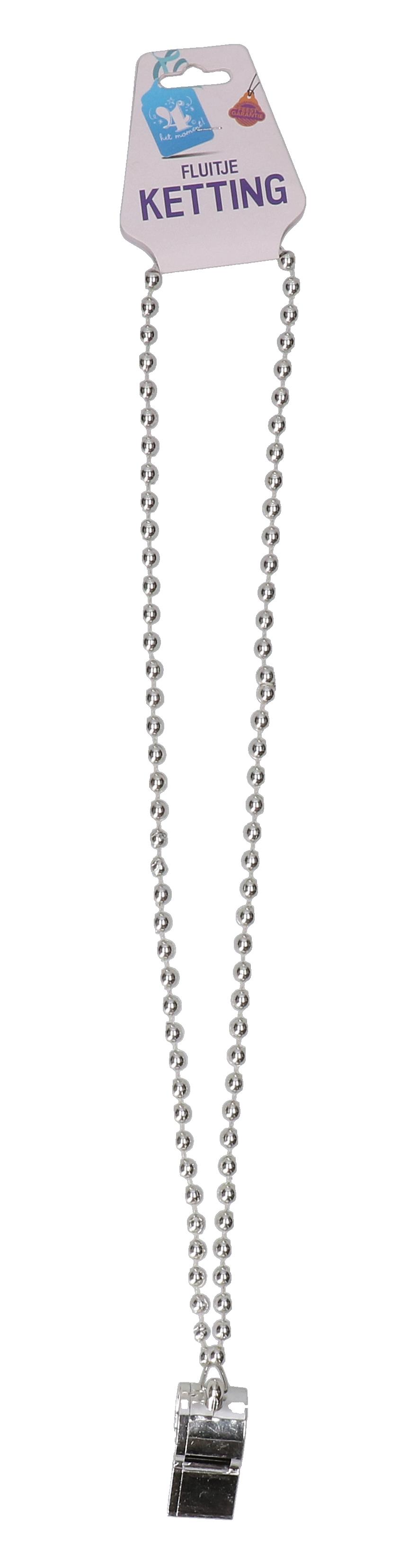 Kralenketting met zilveren fluitje