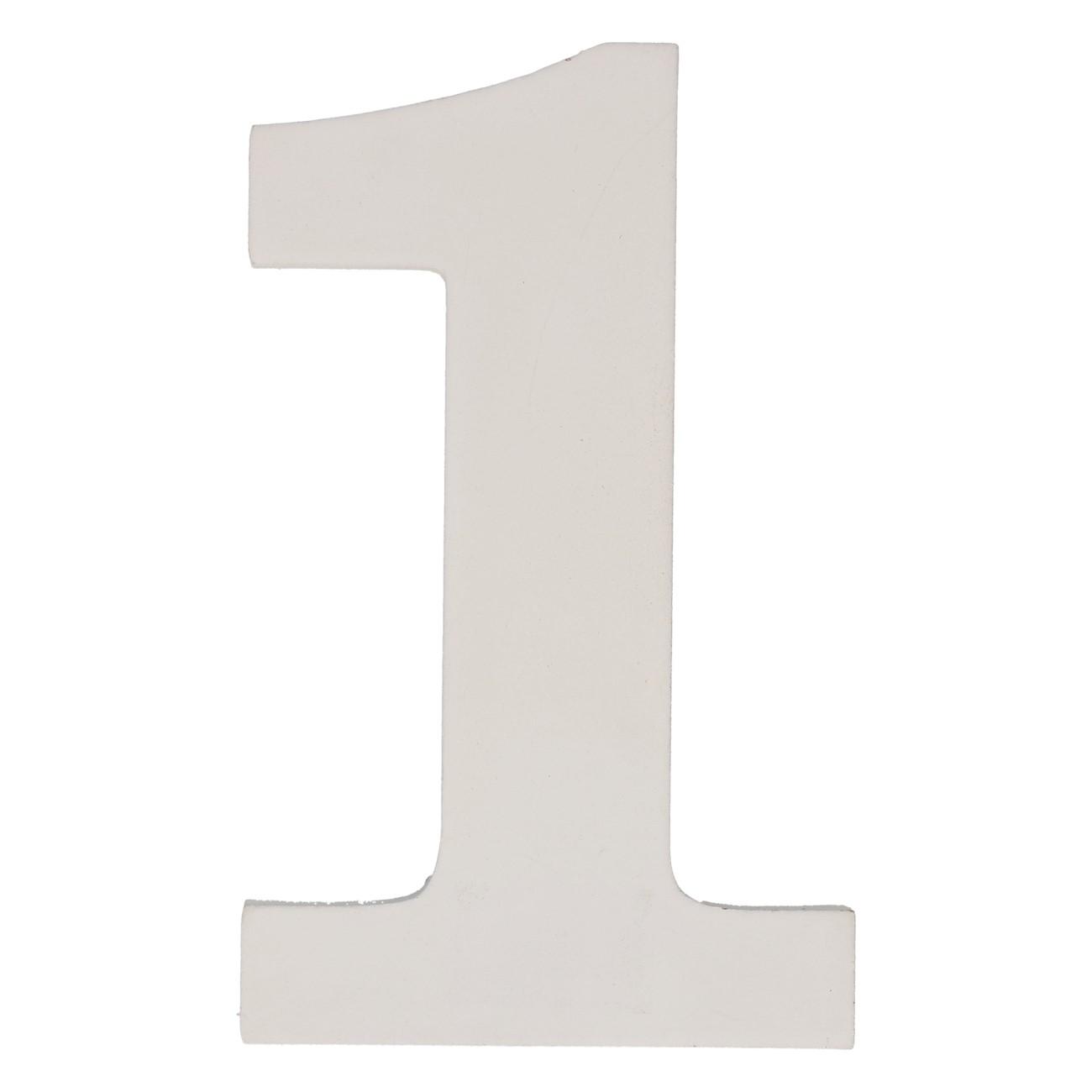 Cijfer mdf 1 (12cm)