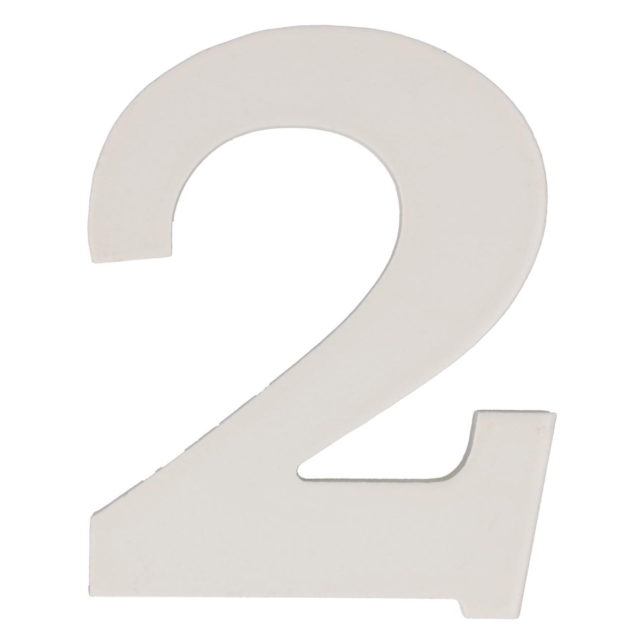 Cijfer mdf 2 (12cm)