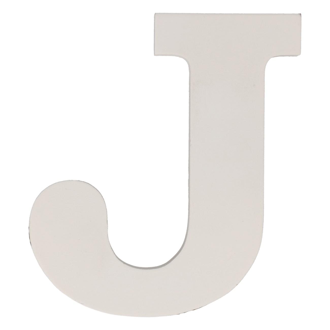 Letter mdf j (12cm)