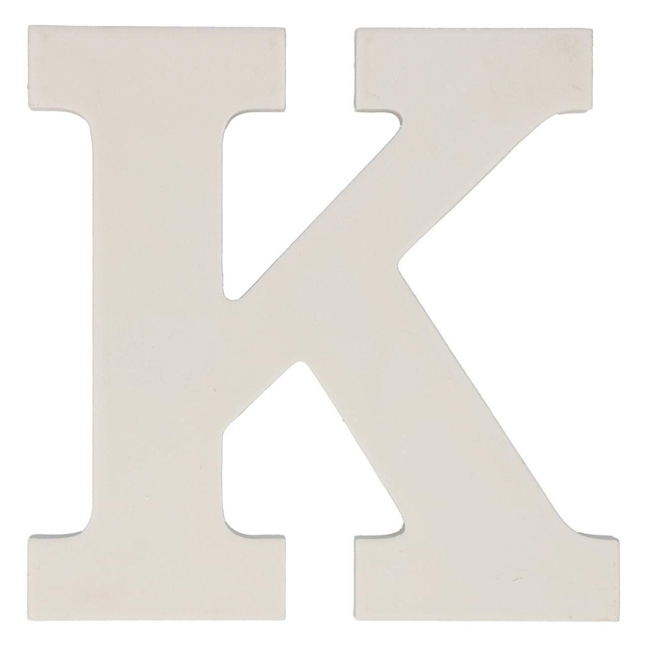 Letter mdf k (12cm)