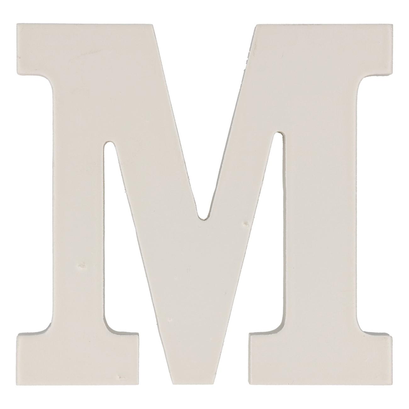 Letter mdf m (12cm)