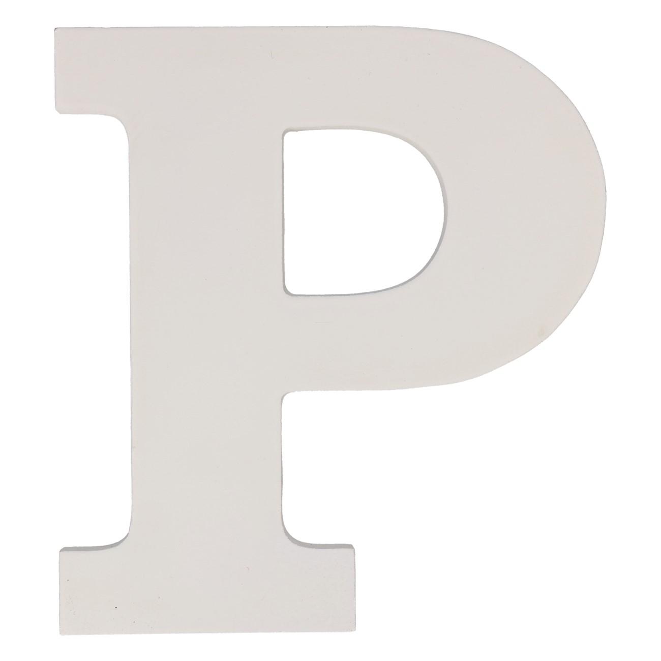 Letter mdf p (12cm)