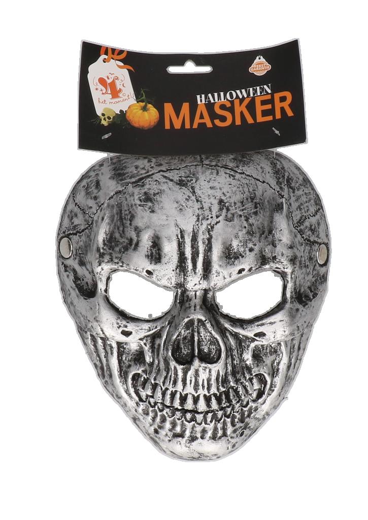 """Masker SKULL """"zilvergrijs"""""""