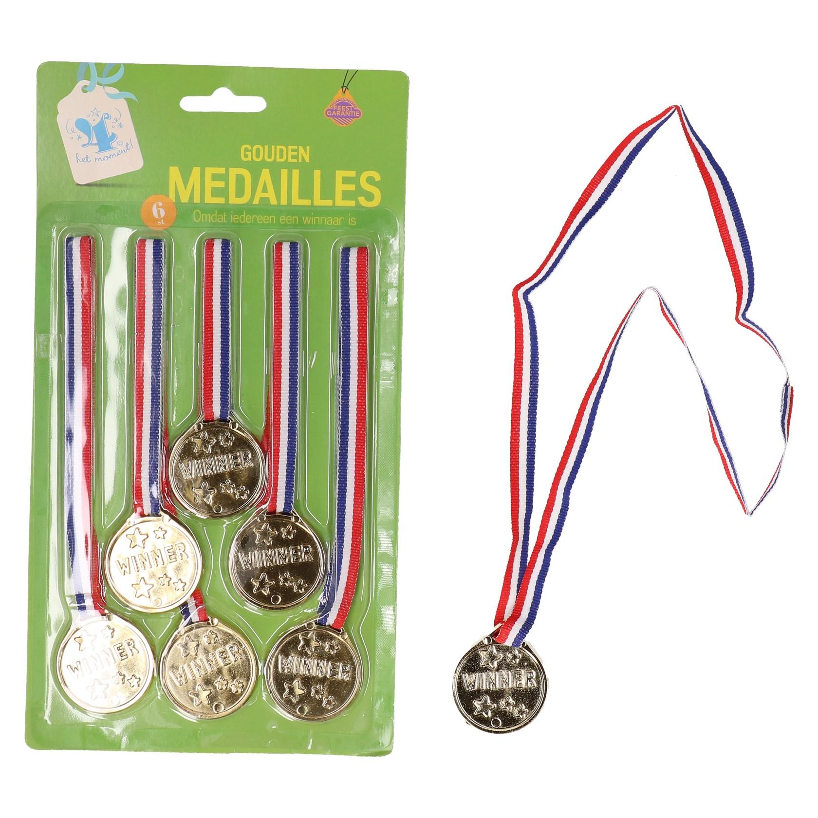 Medailles 6 stuks