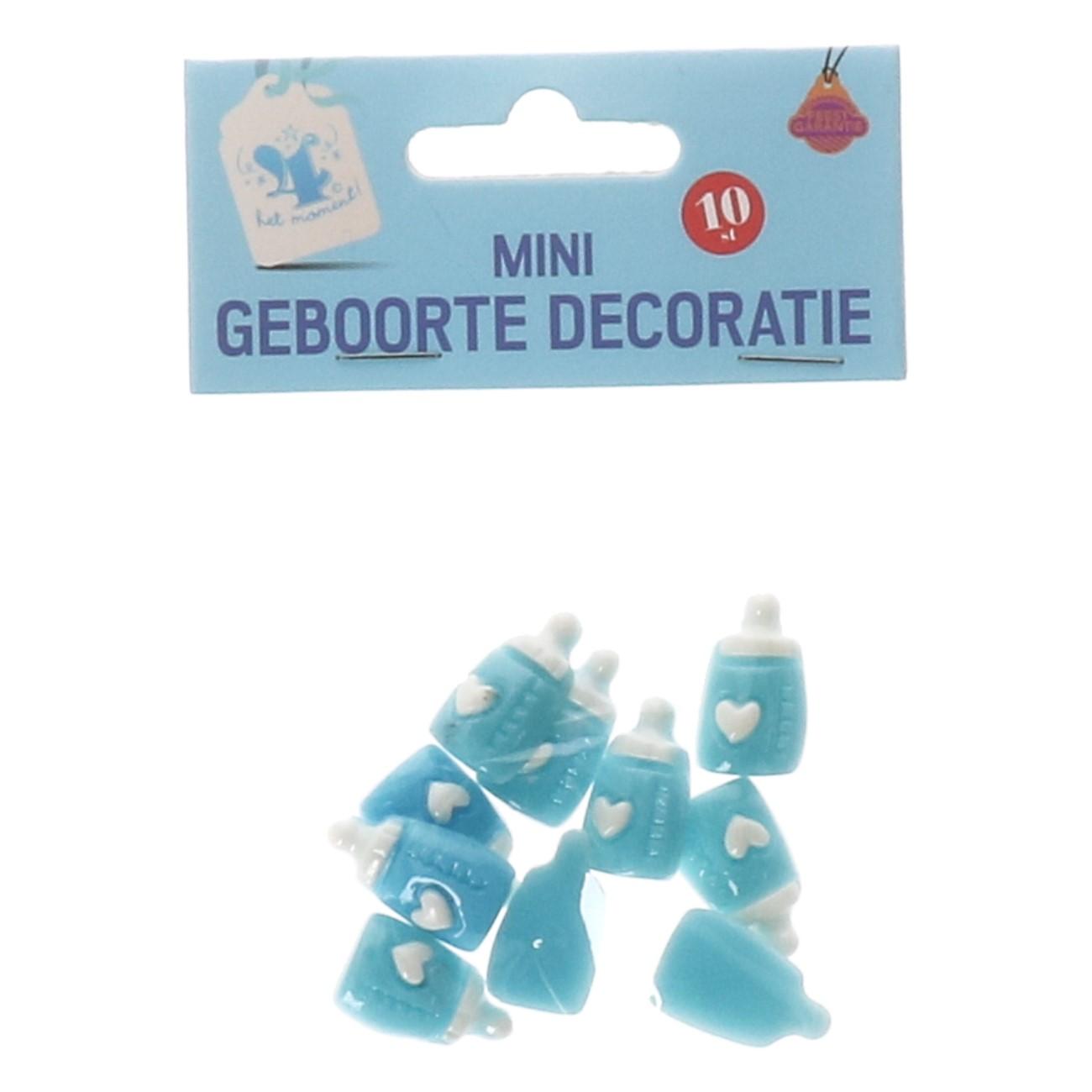 Mini geboorte decoratie blauw #696