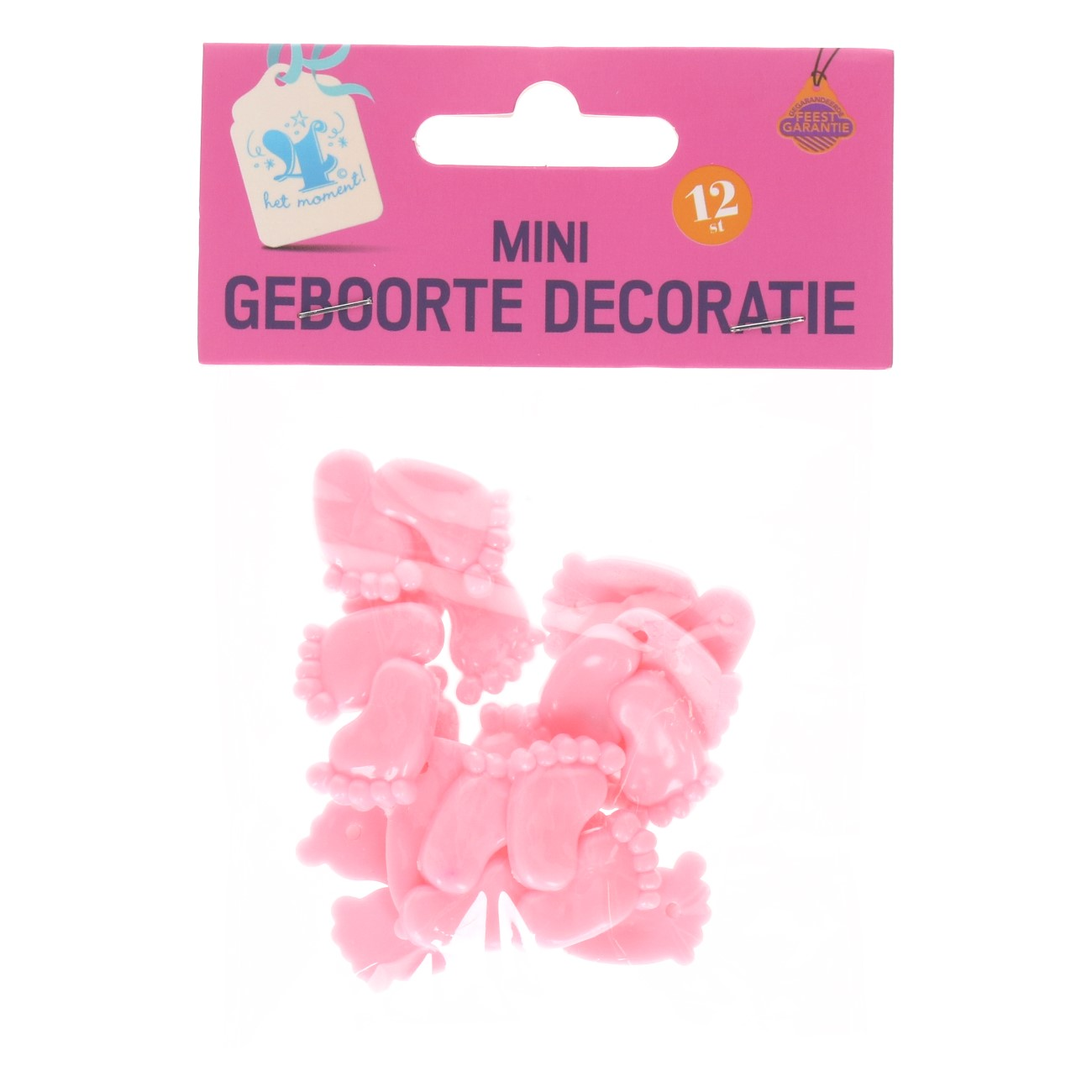 Mini geboorte decoratie roze #672